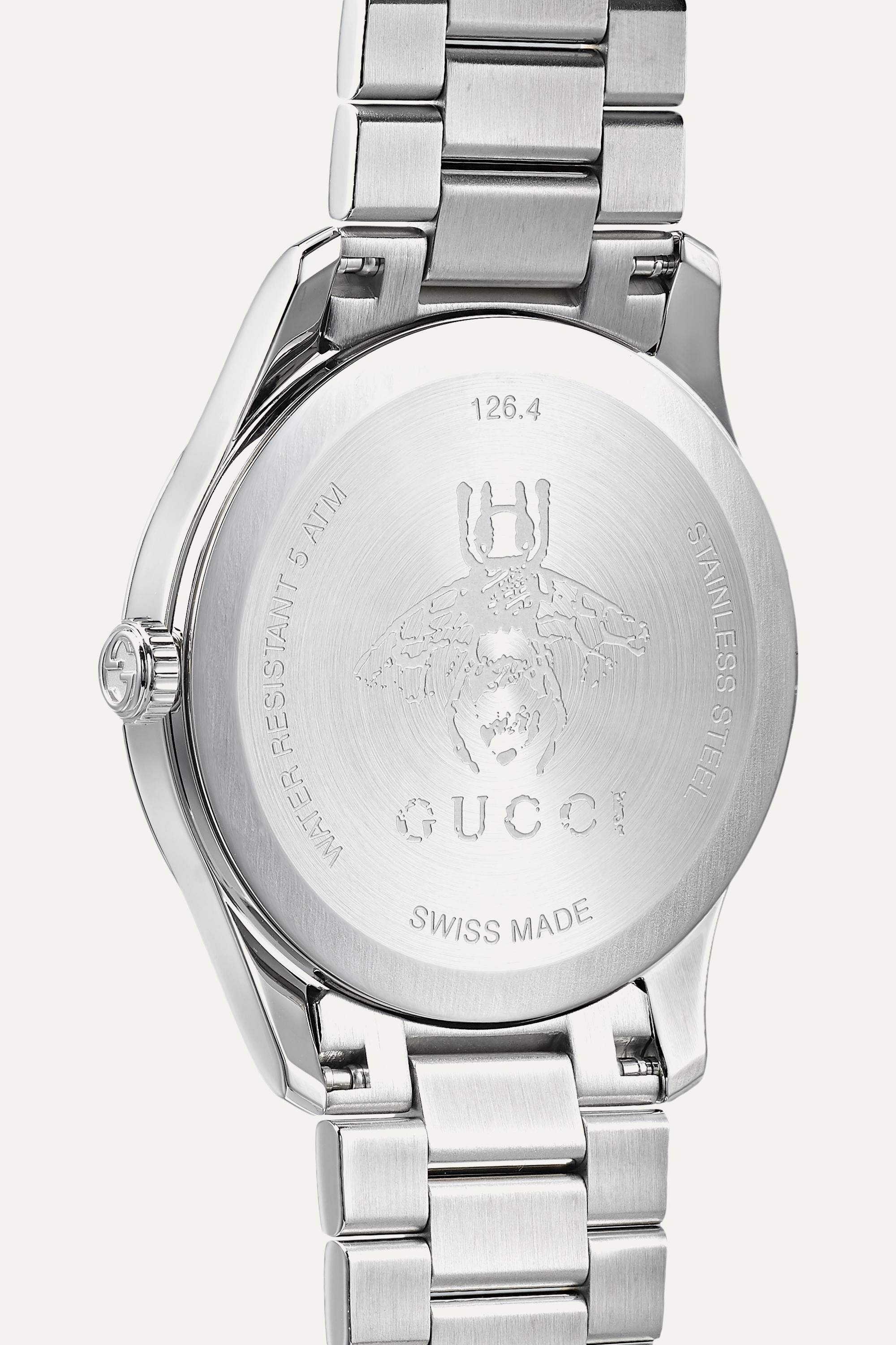Gucci G-Timeless 38mm stainless steel and PVD-plated watch