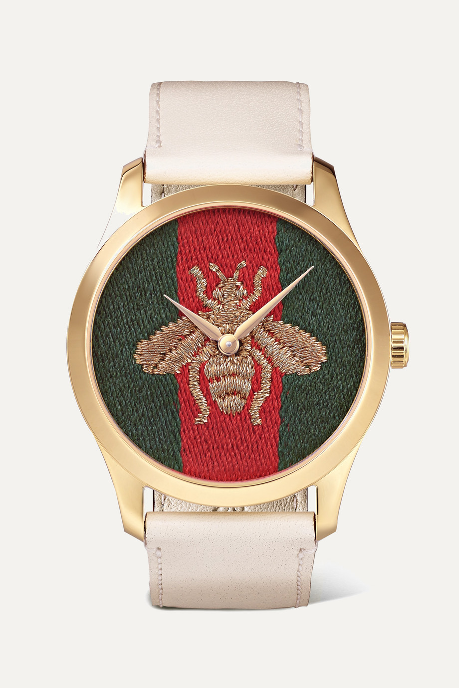 Gucci G-Timeless gold-tone and leather watch