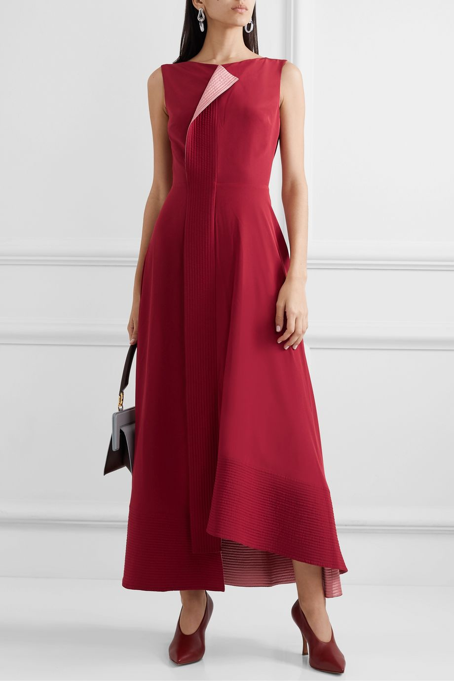 Roksanda Efilia asymmetric draped silk-crepe maxi dress