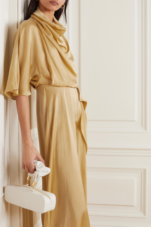 Roksanda Senja asymmetric draped hammered-satin dress