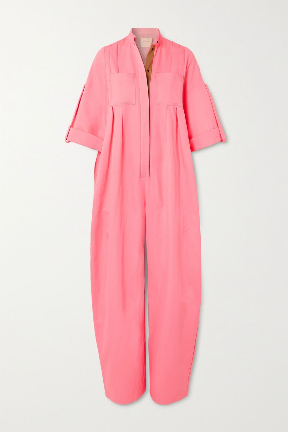 Roksanda Dario oversized pleated cotton-blend twill jumpsuit