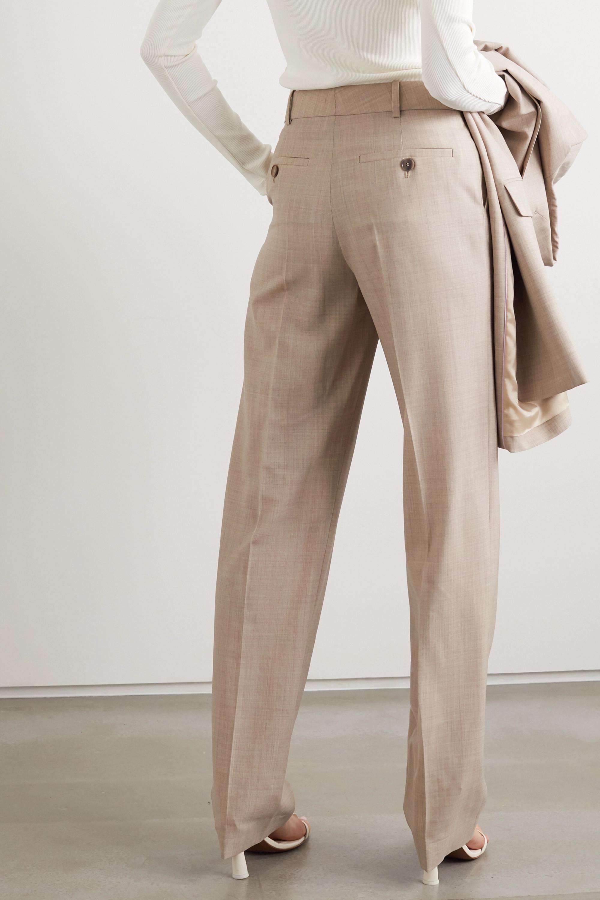 Roksanda Livio mélange wool straight-leg pants