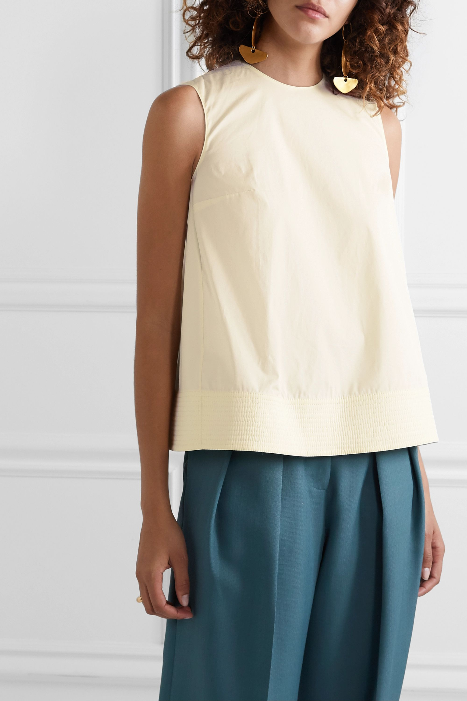Roksanda Leya oversized pleated cotton-poplin top