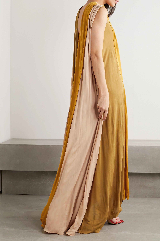 Roksanda Padma gathered color-block jersey gown