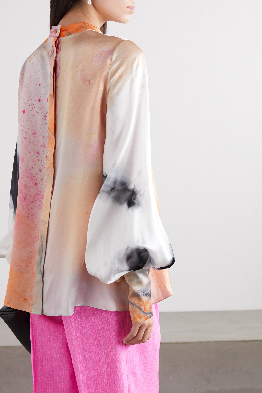Roksanda Cala printed silk-satin blouse