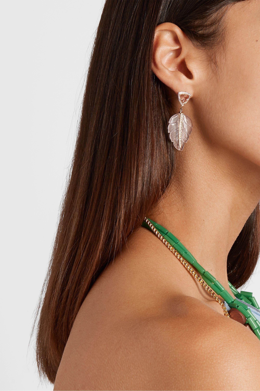Jacquie Aiche 14-karat gold multi-stone earrings