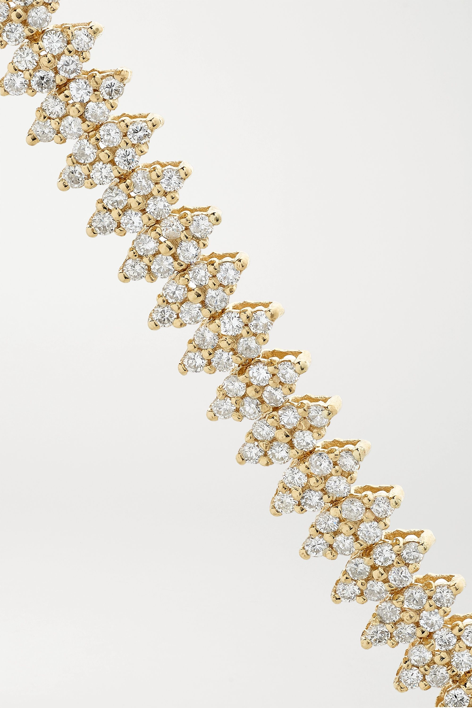 Jacquie Aiche Double Lizzie 14-karat gold diamond bracelet