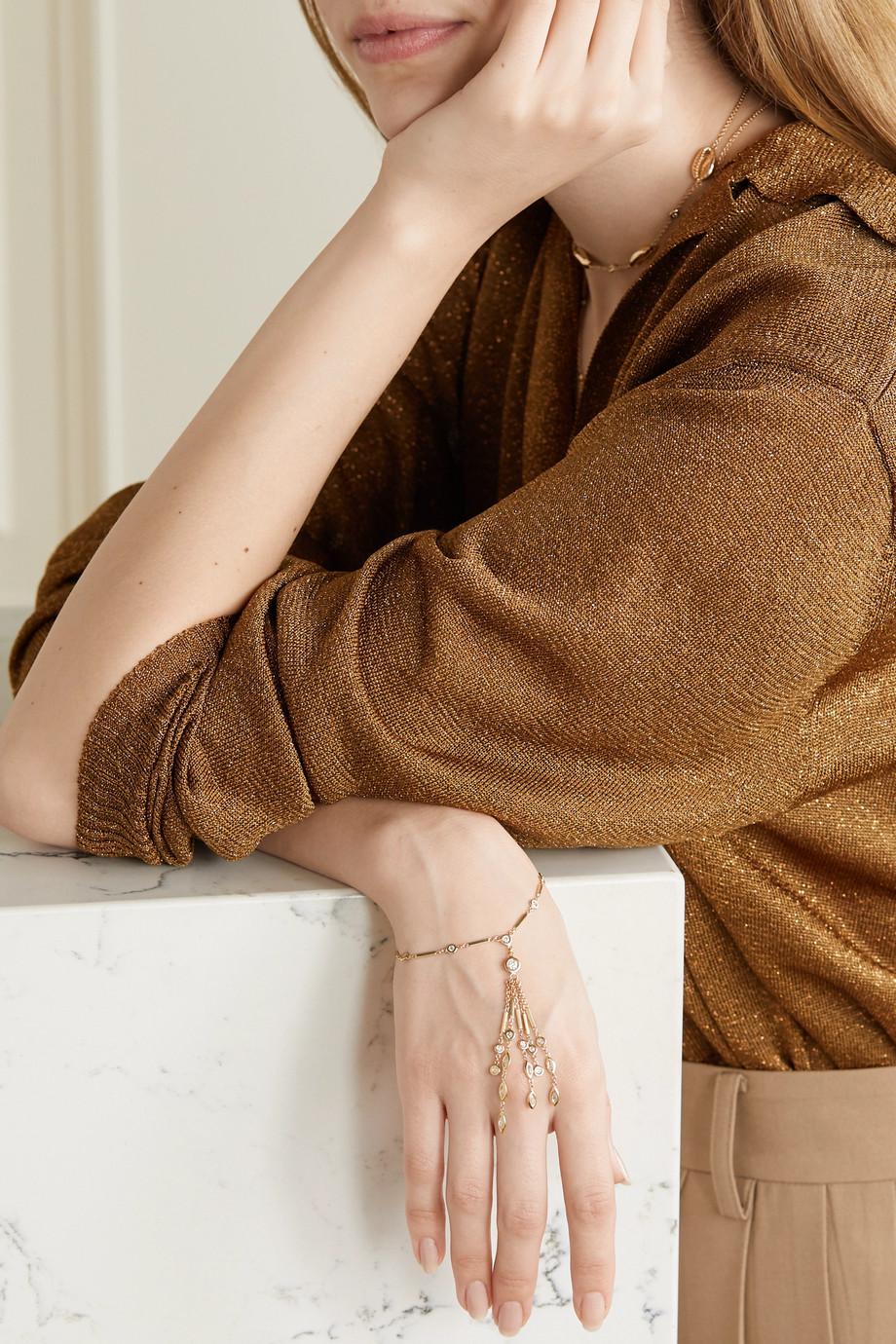 Jacquie Aiche 14-karat gold diamond bracelet