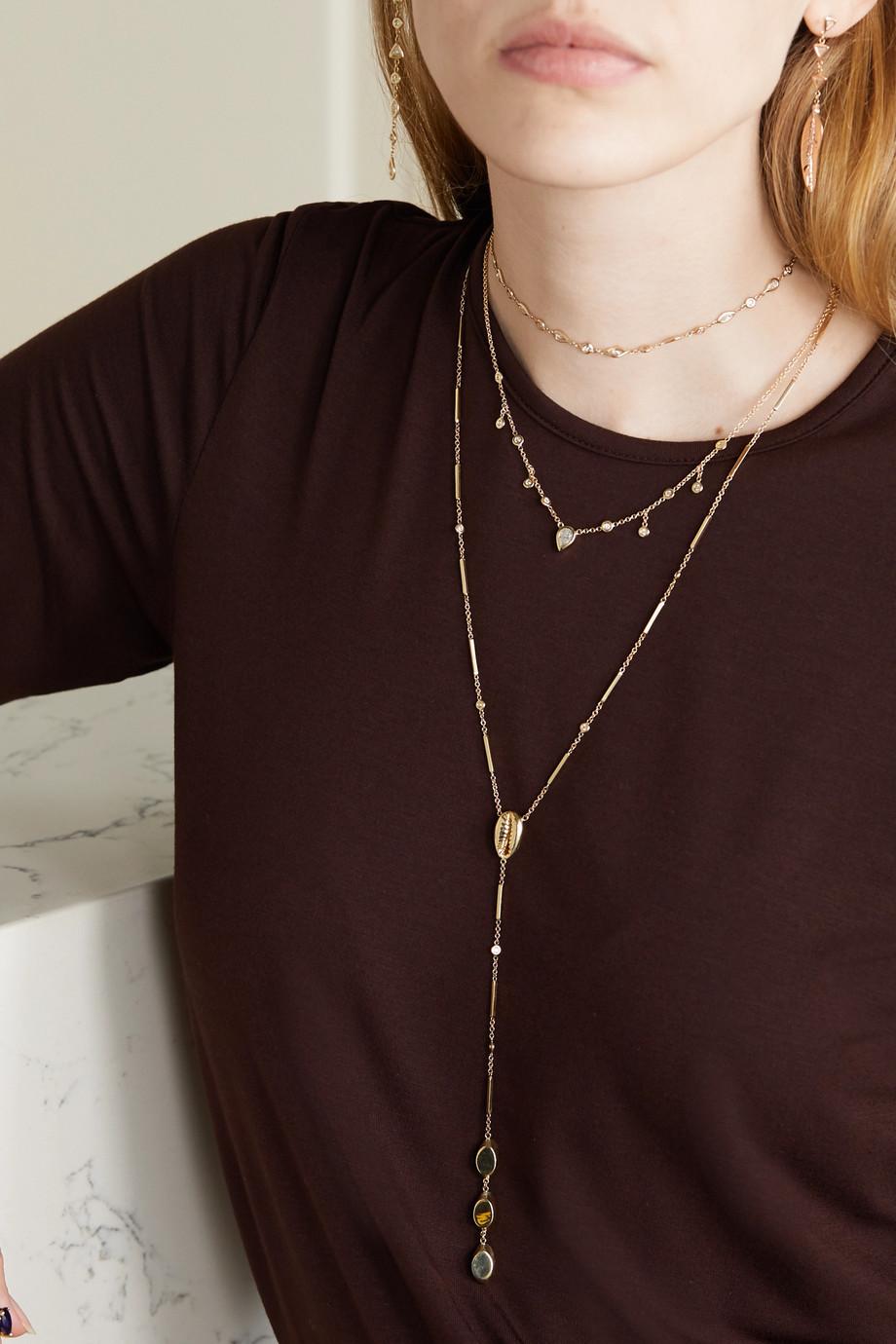 Jacquie Aiche 14-karat gold diamond necklace