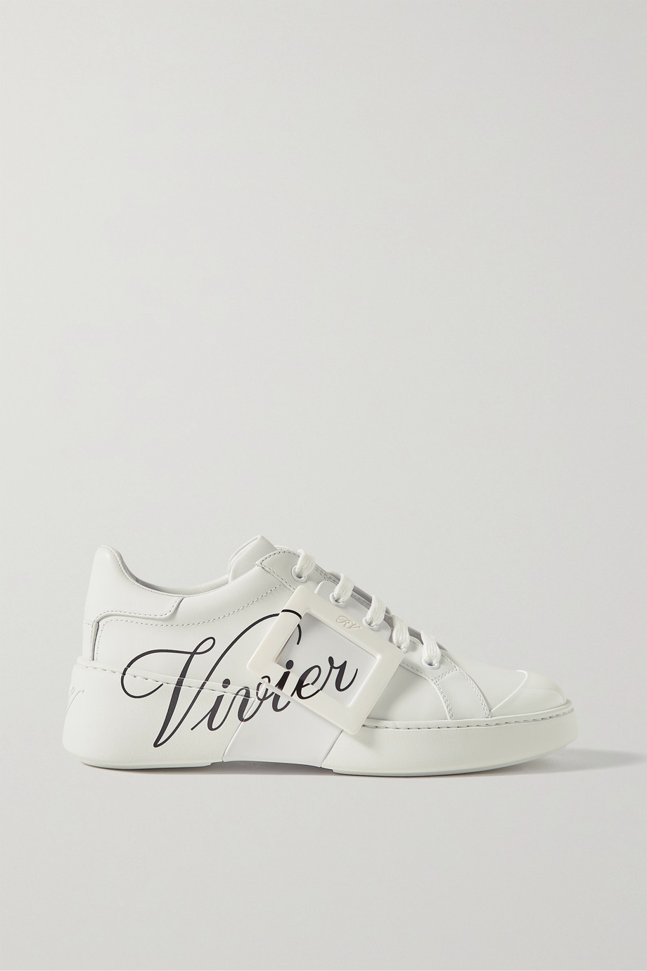 Roger Vivier Viv Skate logo-print leather sneakers