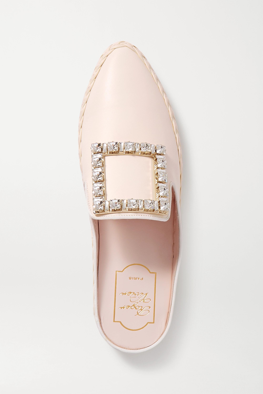 Roger Vivier RV Lounge crystal-embellished leather slippers