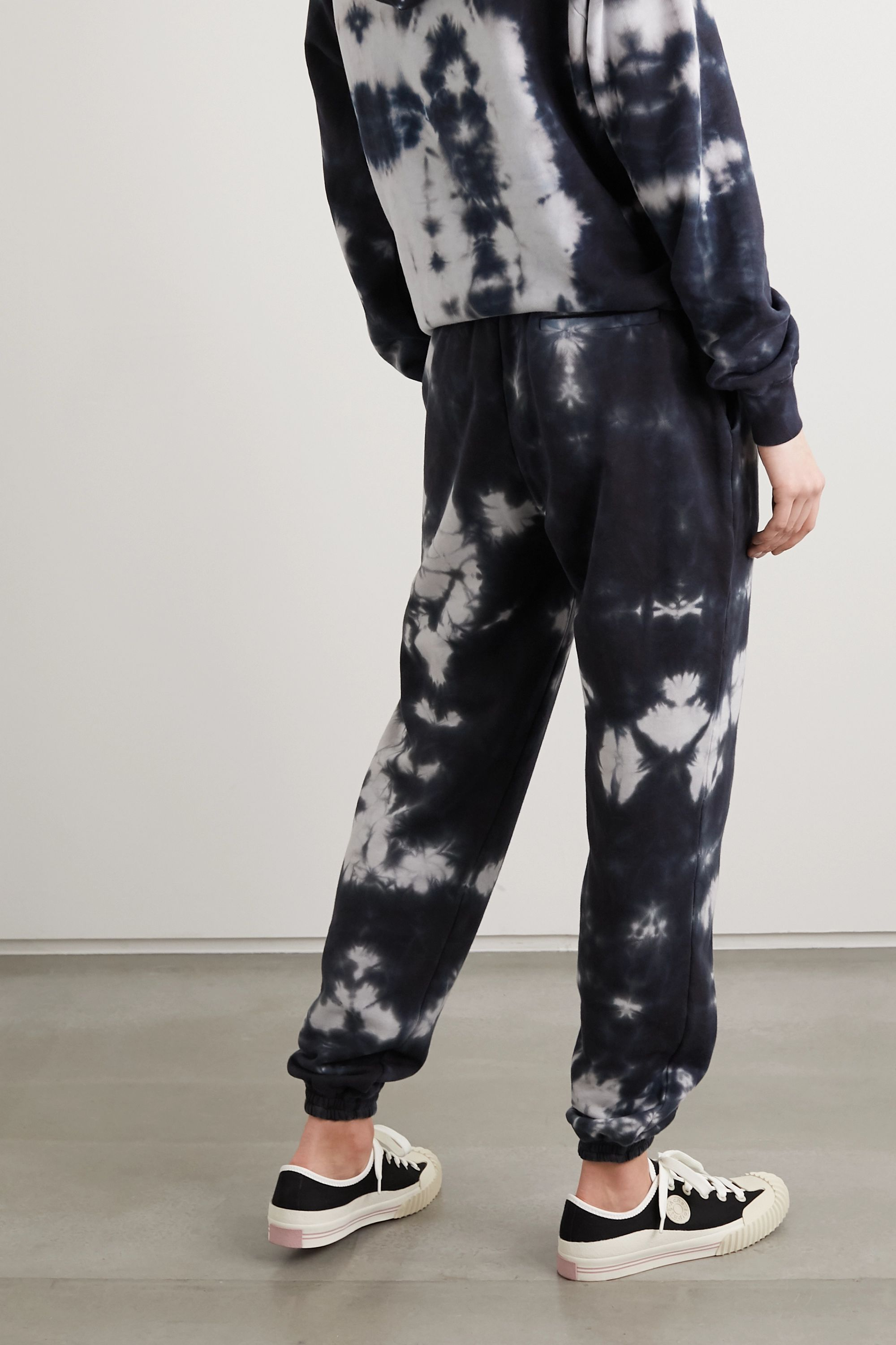 Ninety Percent + NET SUSTAIN tie-dyed organic cotton-terry track pants