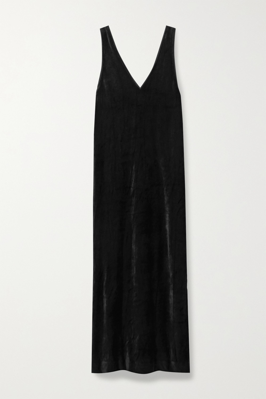 Ninety Percent + NET SUSTAIN Micro Modal-blend velour midi dress