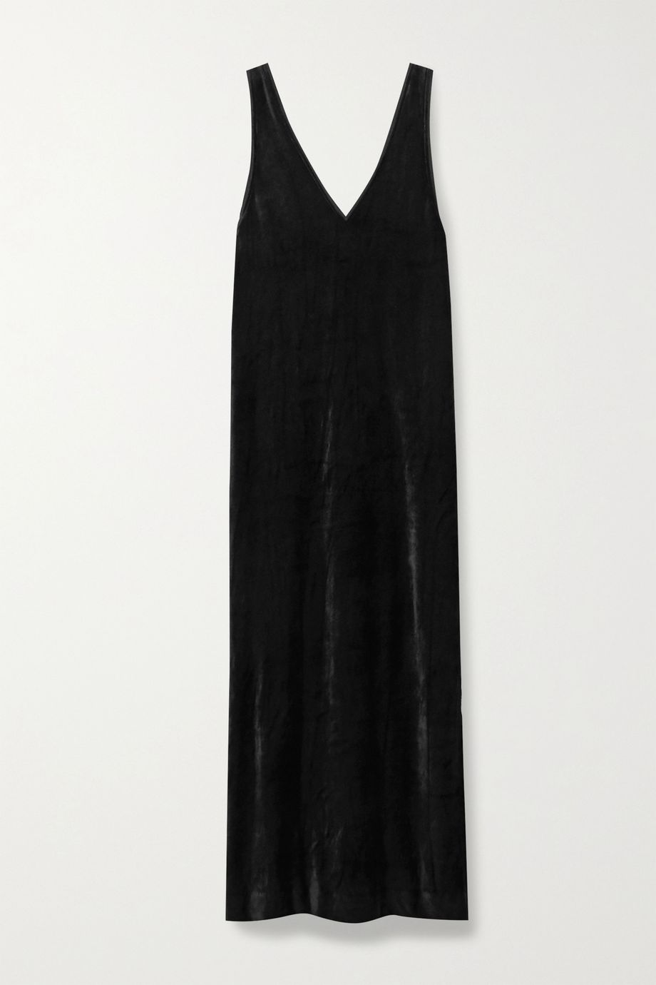Ninety Percent + NET SUSTAIN Micro Modal-blend velour midi dress