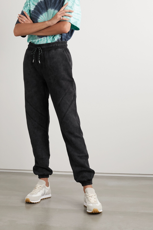 Ninety Percent + NET SUSTAIN sprayed organic cotton-terry track pants