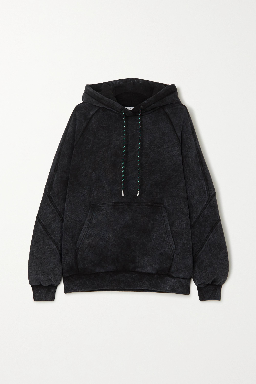 Ninety Percent + NET SUSTAIN sprayed organic cotton-terry hoodie