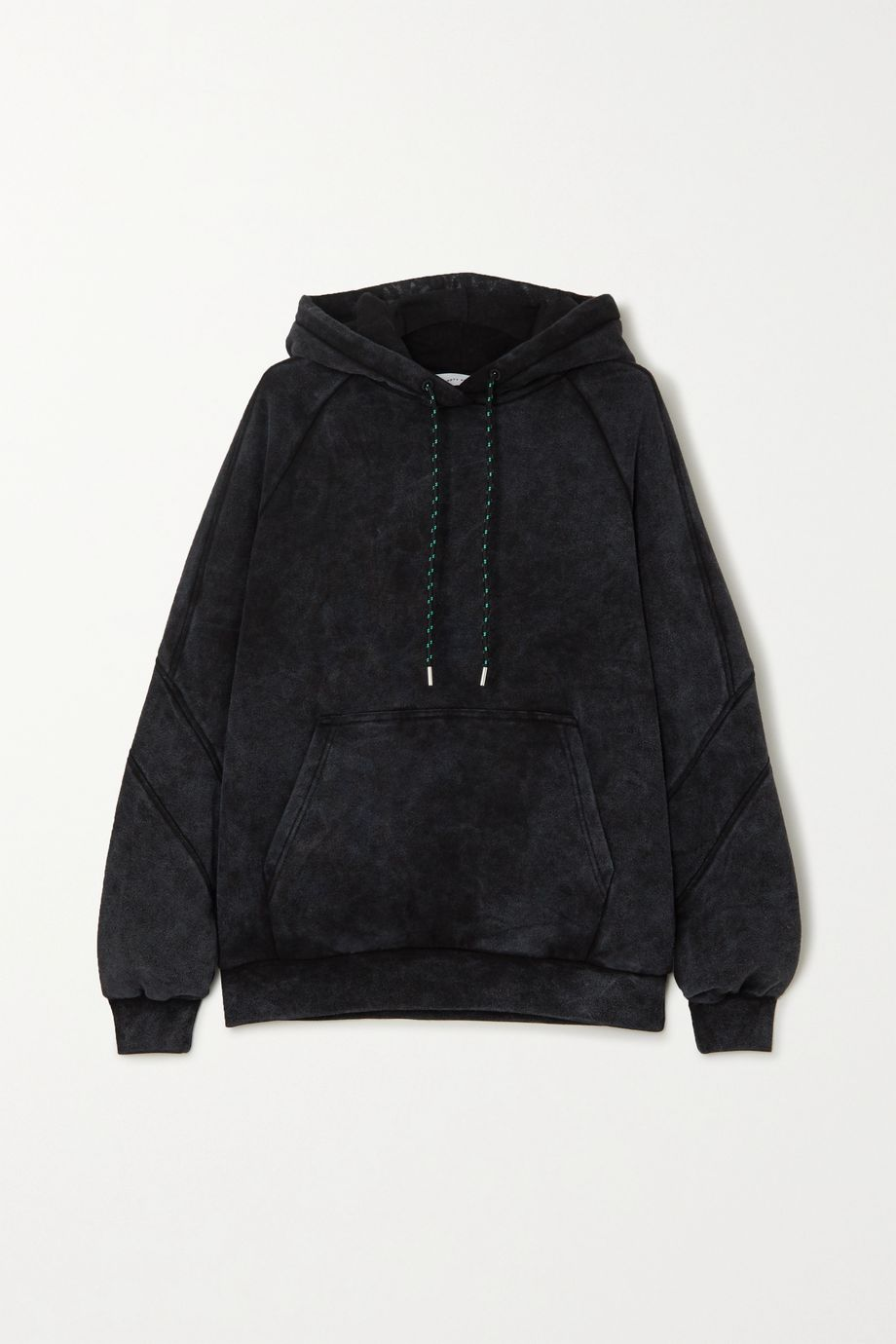 Ninety Percent + NET SUSTAIN sprayed organic cotton-terry hoodie