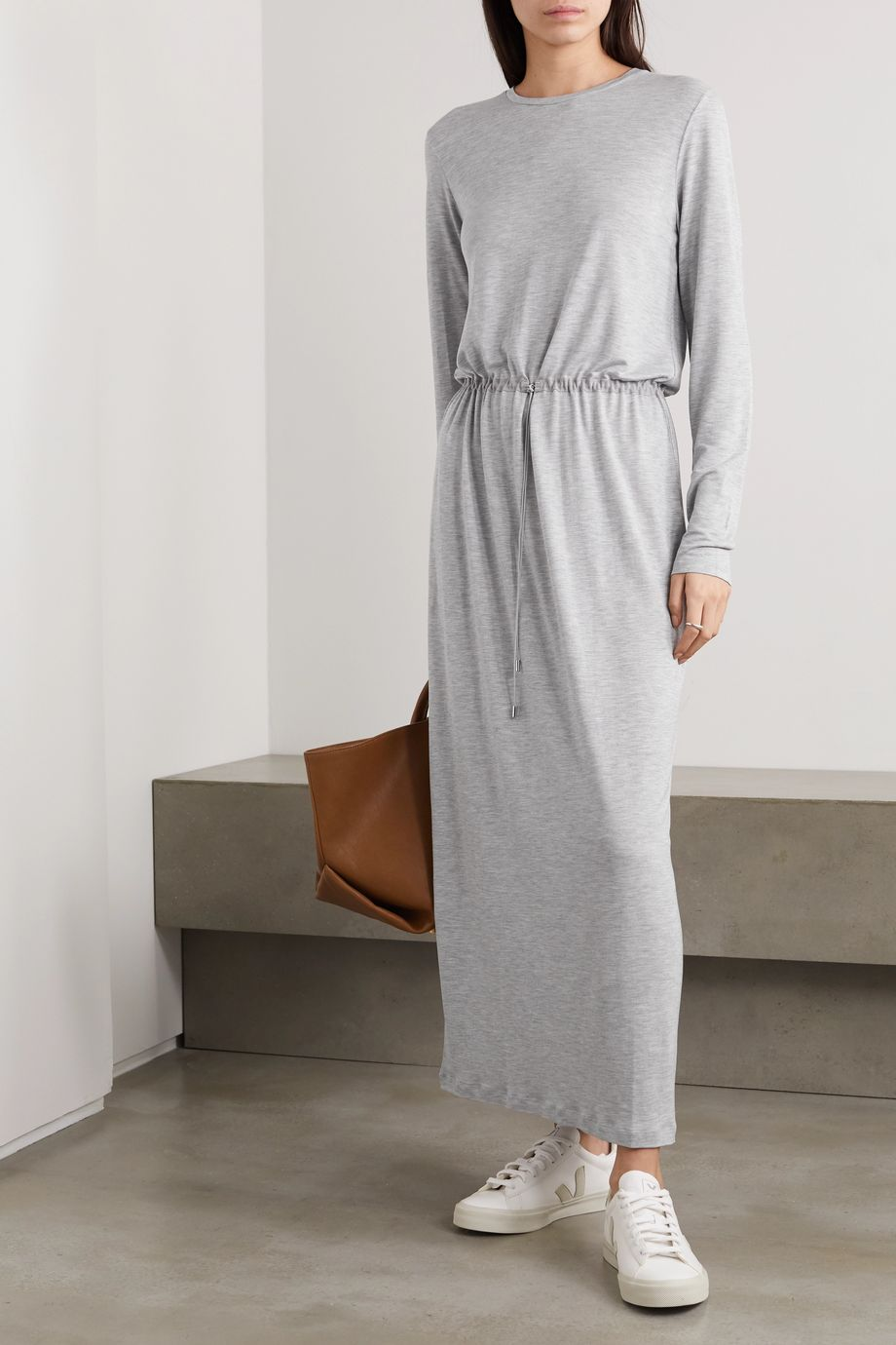 Ninety Percent + NET SUSTAIN mélange Tencel maxi dress