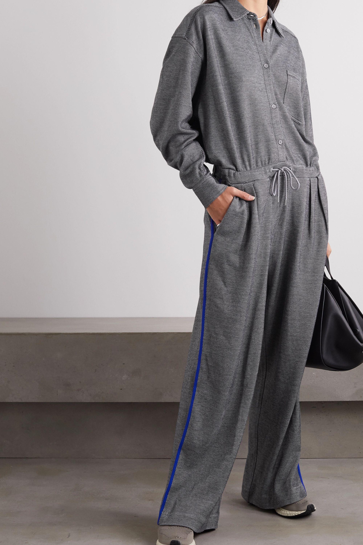 Ninety Percent + NET SUSTAIN striped organic cotton-blend jacquard jumpsuit