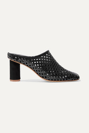 salondeju Rond laser-cut leather mules