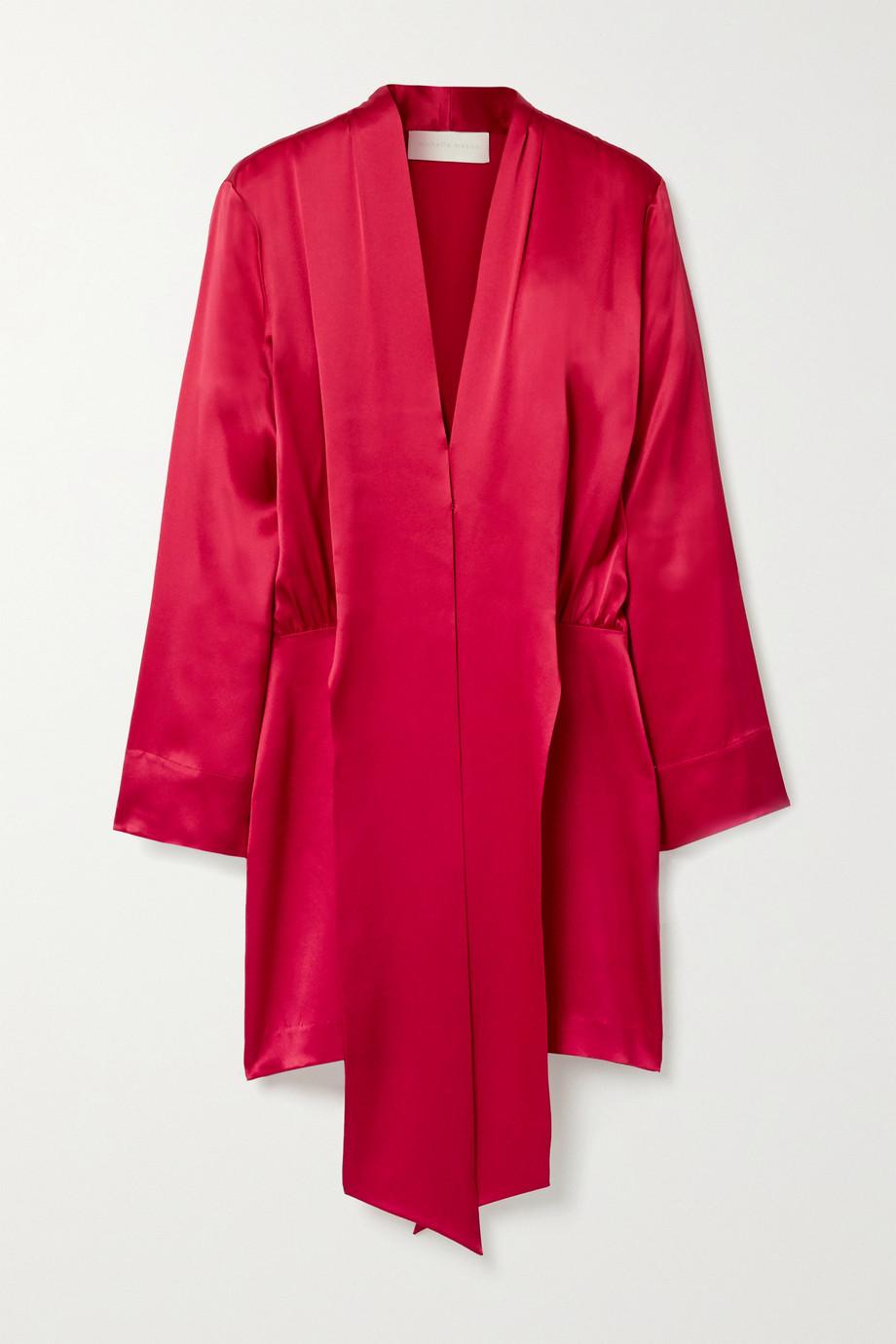 Michelle Mason Draped silk-satin mini dress