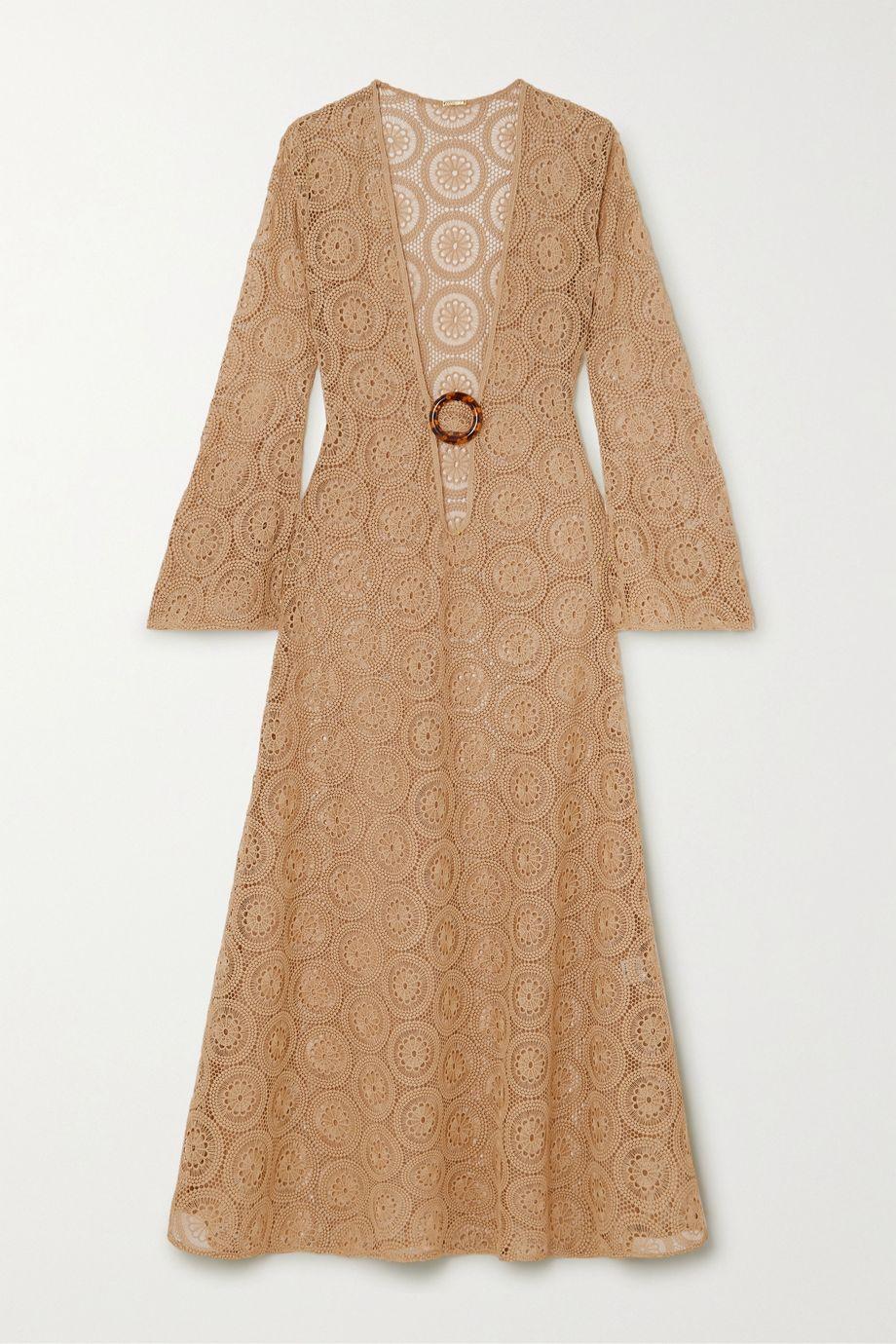 Dodo Bar Or Jane embellished crocheted cotton maxi dress