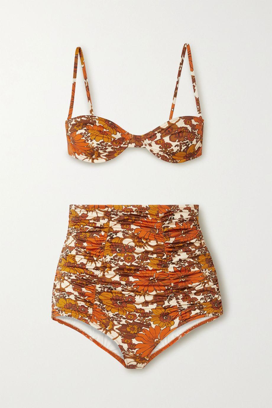 Dodo Bar Or Morgan and Alexia ruched floral-print bikini