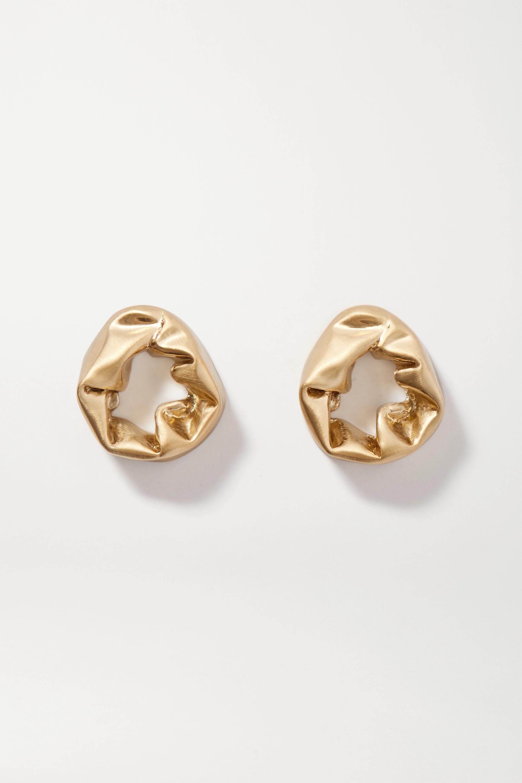 Completedworks Scrunch gold vermeil earrings