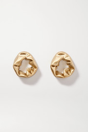 Completedworks Scrunch gold vermeil earrings