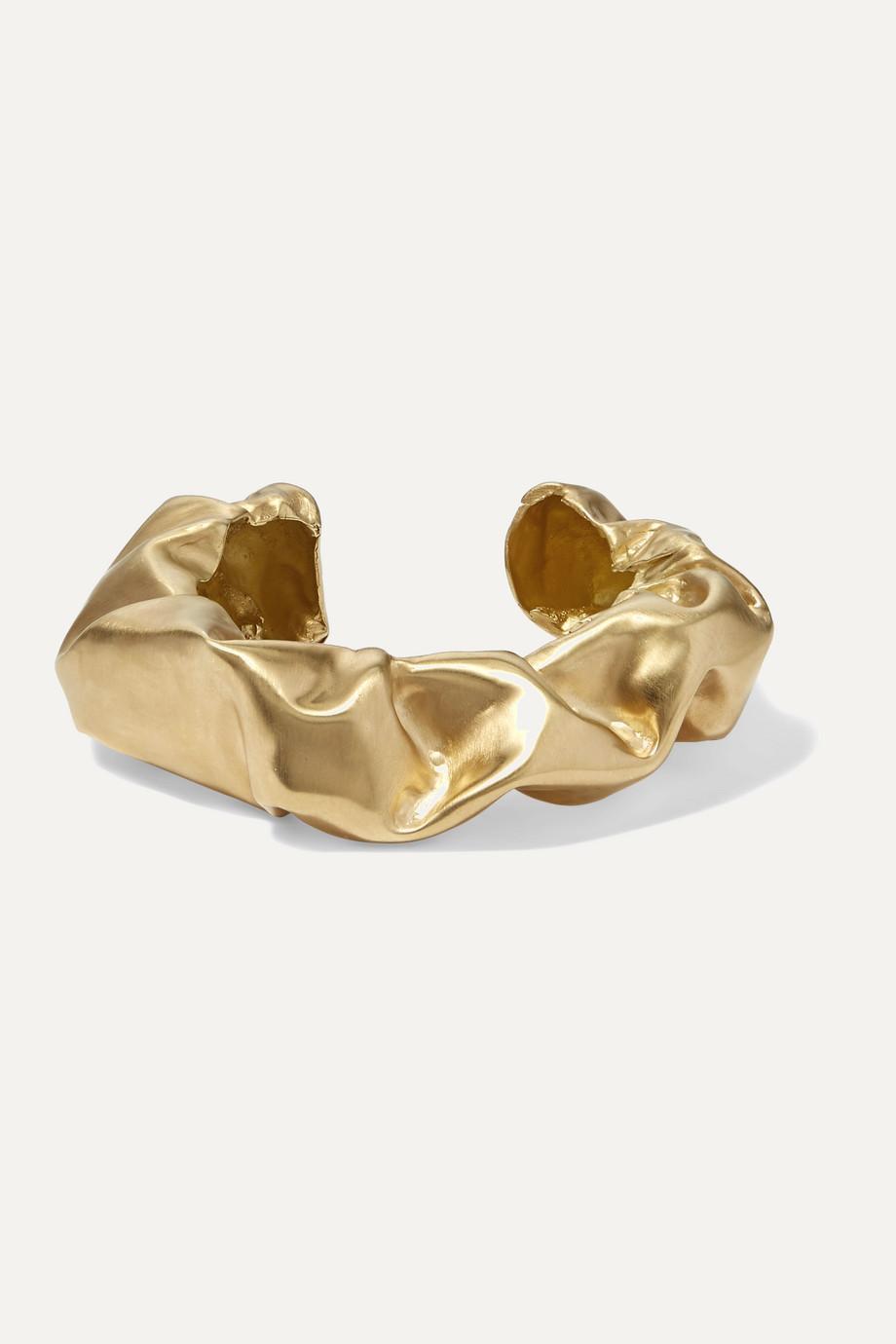 Completedworks Scrunch gold vermeil cuff