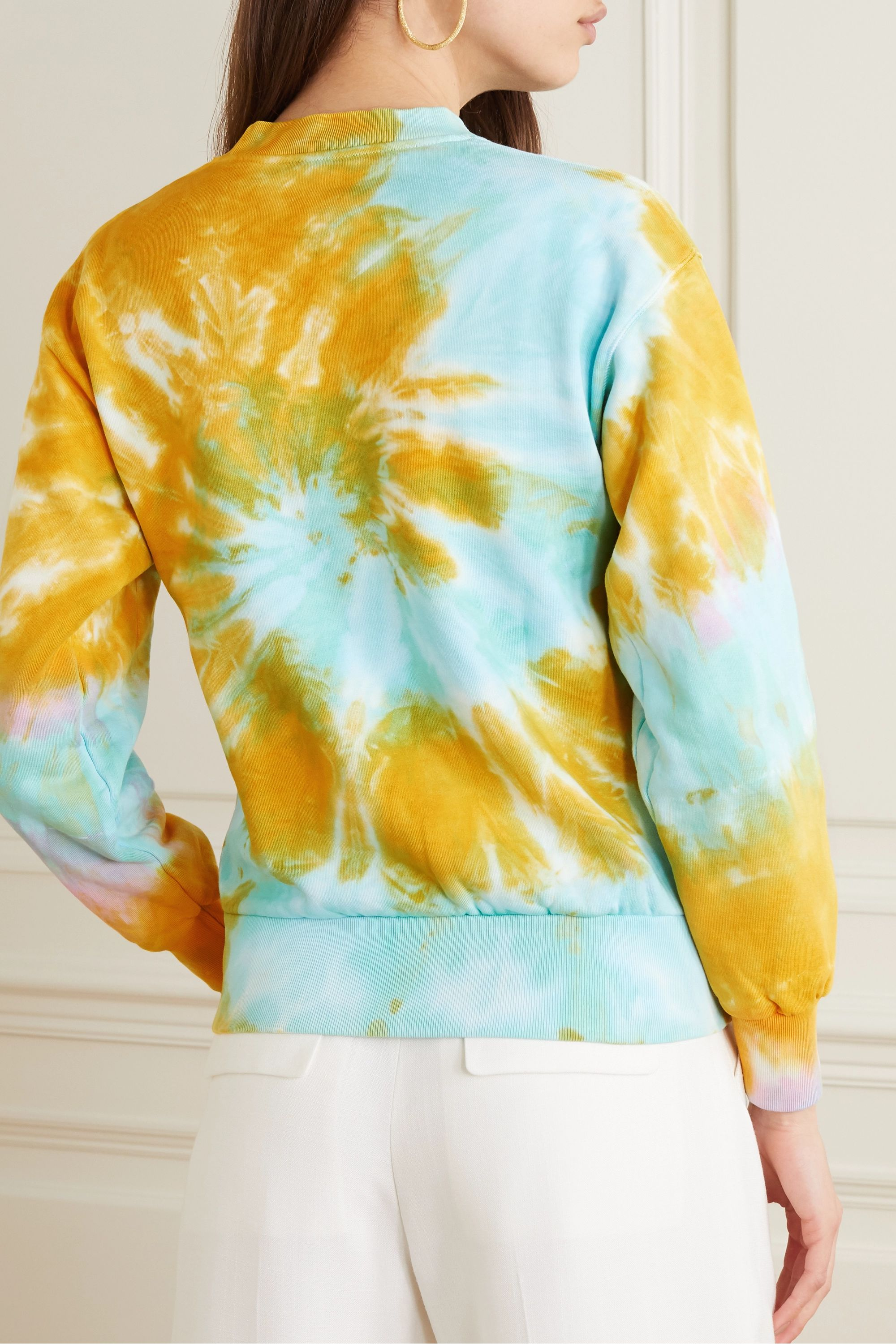 Aries Printed tie-dyed cotton-jersey sweatshirt