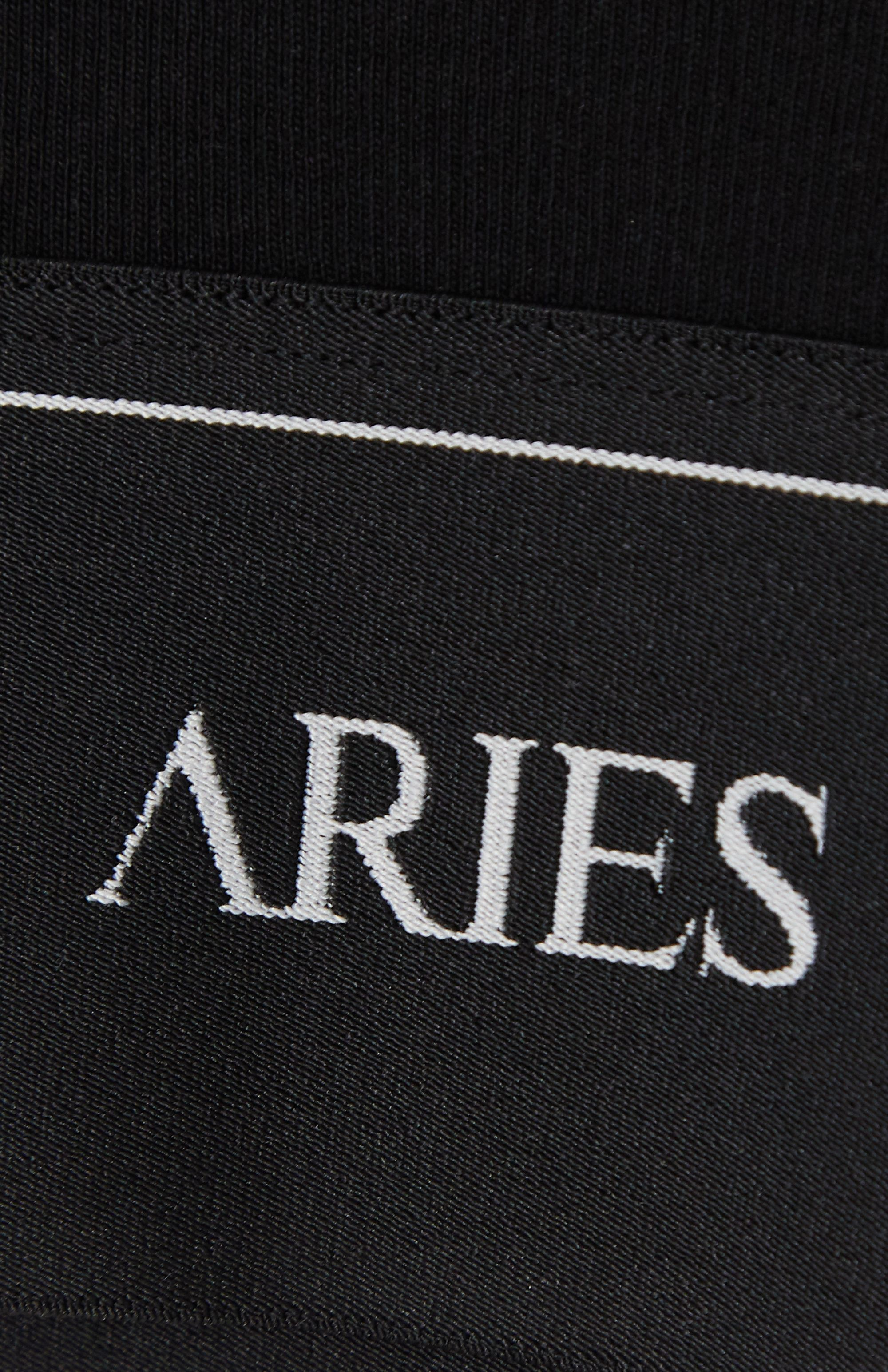 Aries Cropped jacquard-trimmed cotton-jersey T-shirt