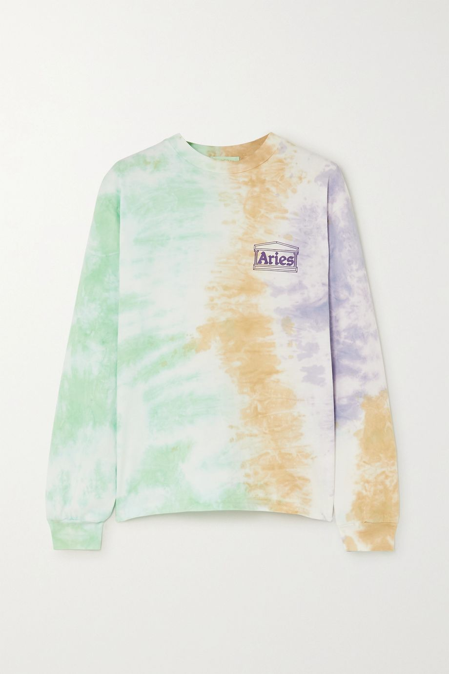 Aries Printed tie-dyed cotton-jersey top