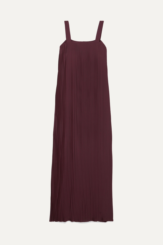 LE 17 SEPTEMBRE Pleated crepe de chine maxi dress