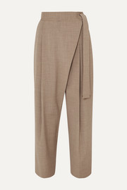 LE 17 SEPTEMBRE Draped woven tapered pants