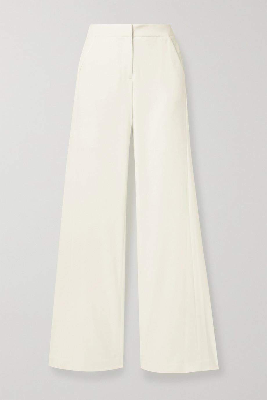 Halston Pantalon large en crêpe