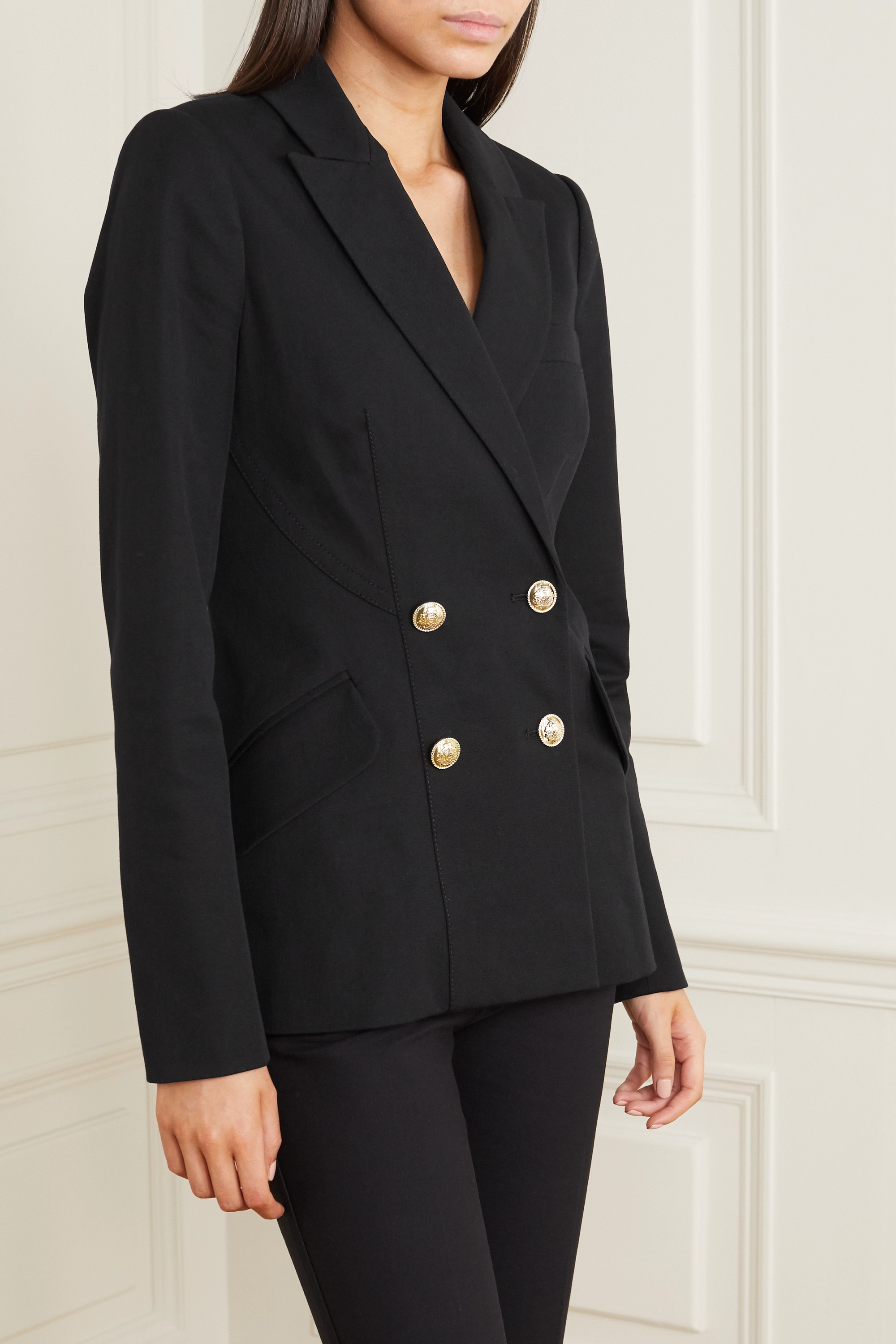 Derek Lam 10 Crosby Rodeo double-breasted stretch-cotton twill blazer