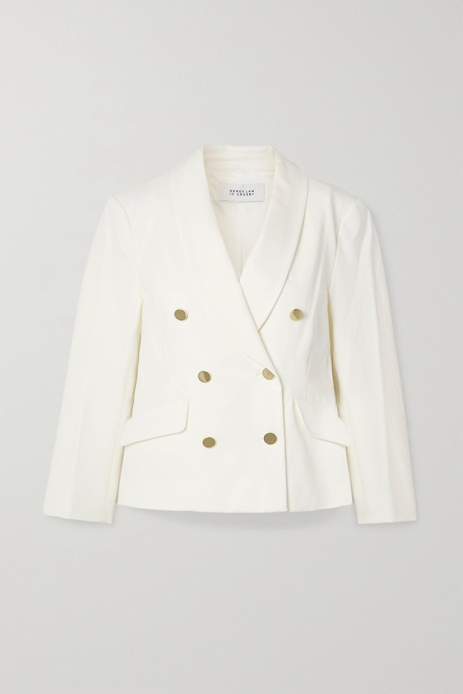 Derek Lam 10 Crosby Myra double-breasted cotton-blend crepe blazer