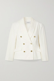 10 Crosby by Derek Lam Myra double-breasted cotton-blend crepe blazer