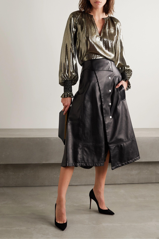 Derek Lam 10 Crosby Helena oversized silk and Lurex-blend blouse
