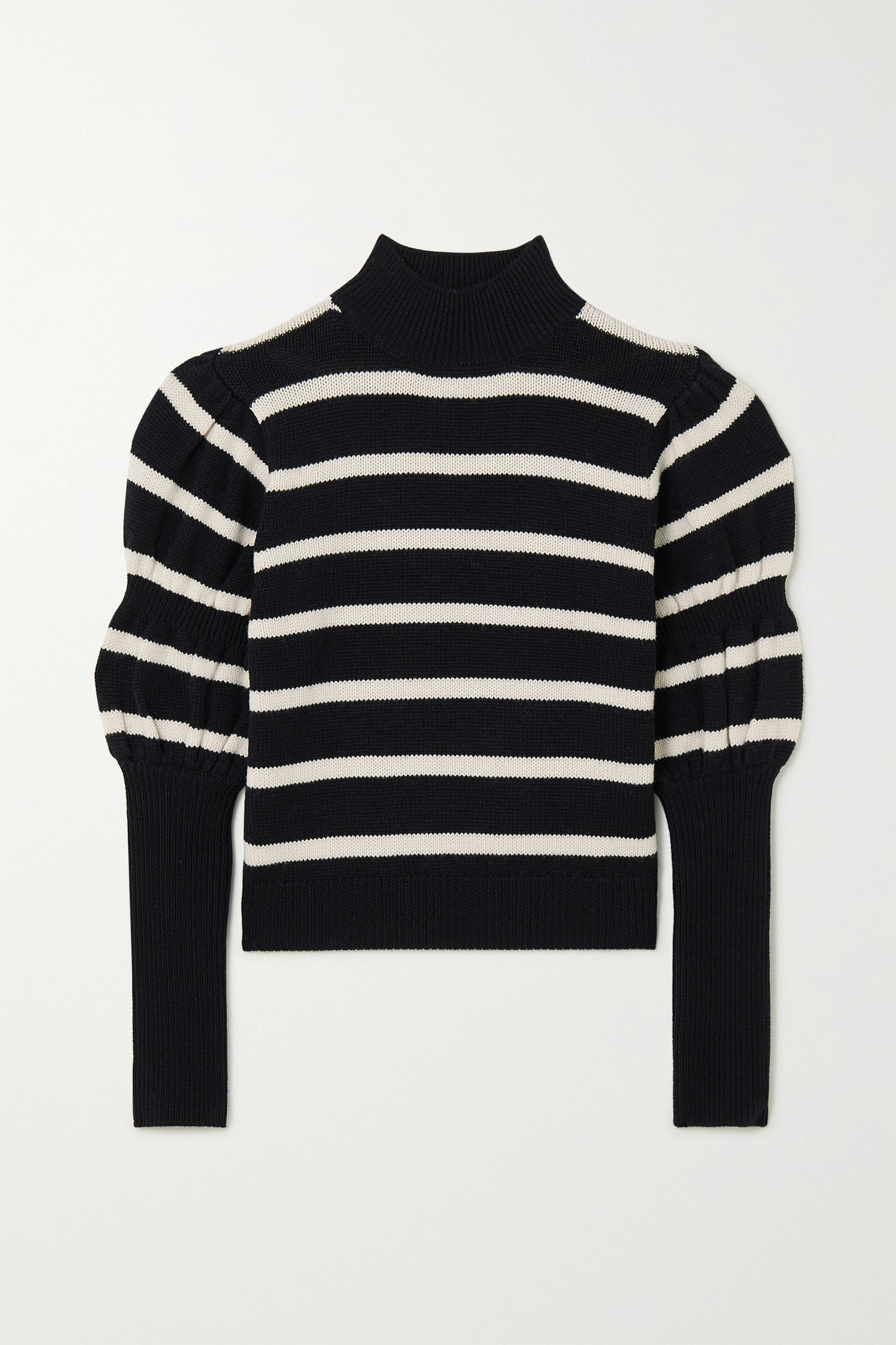 Derek Lam 10 Crosby Elani cropped striped merino wool sweater