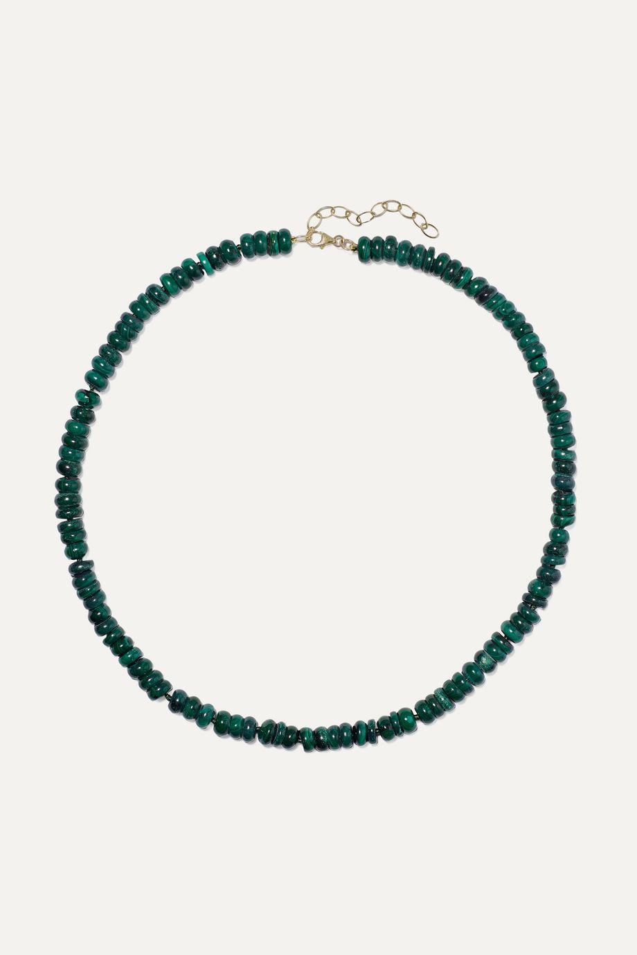 Harris Zhu Gold malachite necklace