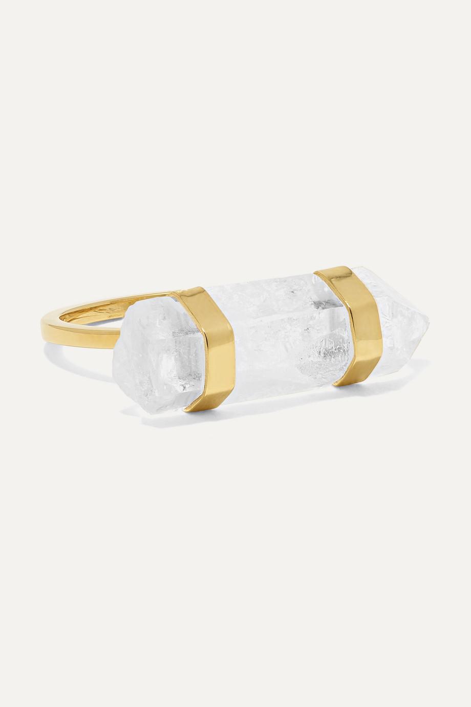 Harris Zhu 14-karat gold crystal quartz ring