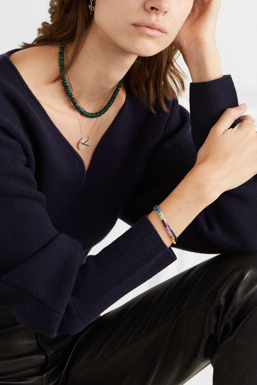 Harris Zhu Set of two gold sapphire bracelets