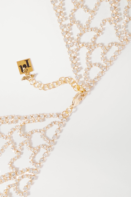 Rosantica Spig gold-tone crystal necklace