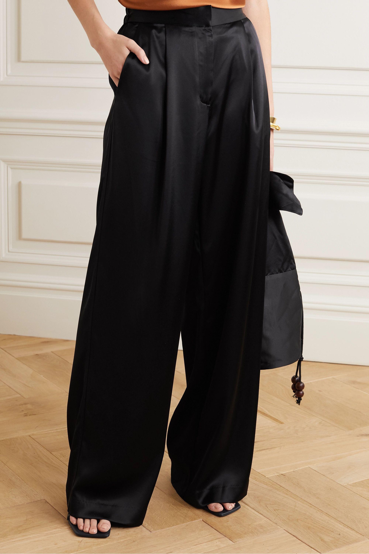 Matteau Satin wide-leg pants