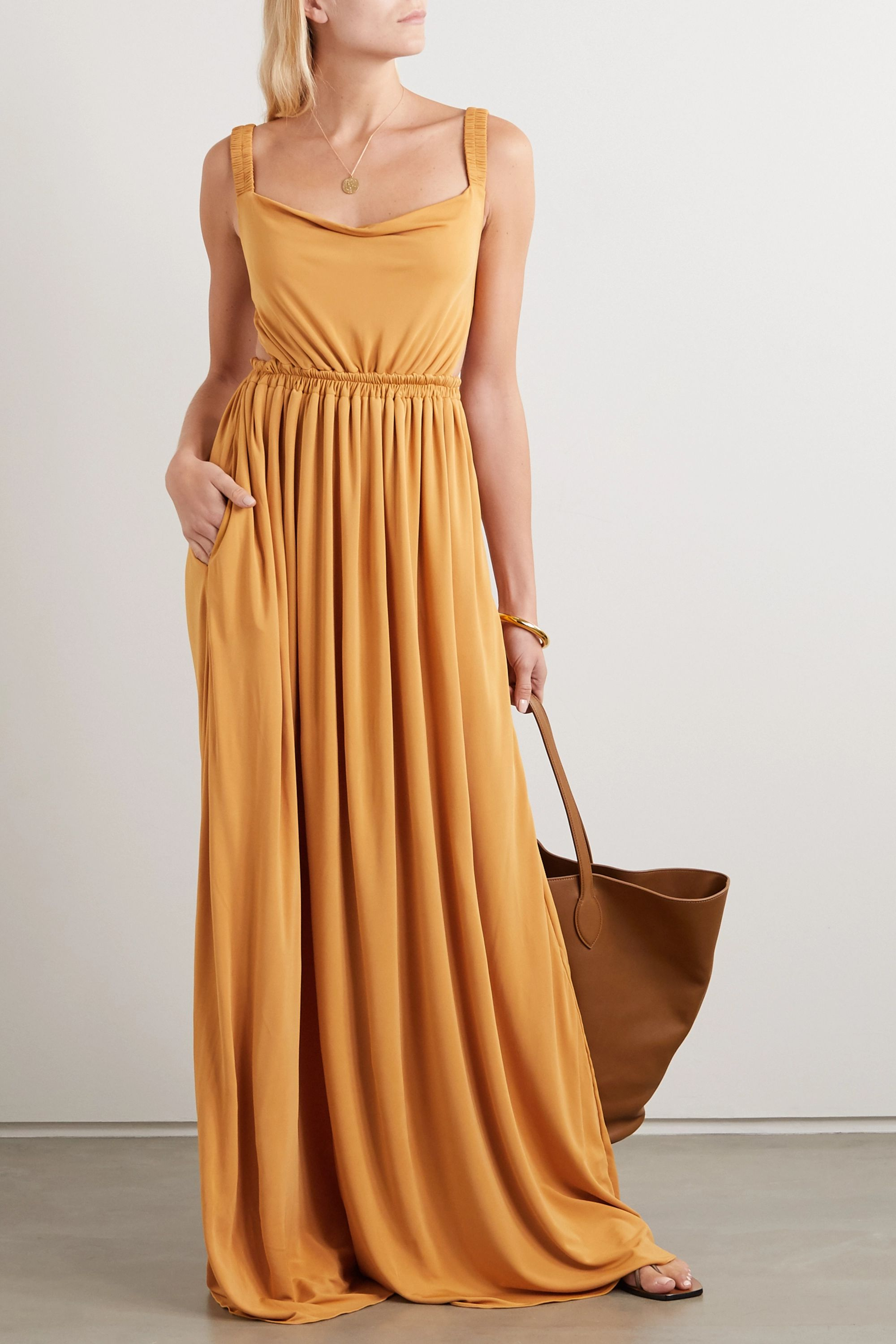 Matteau + NET SUSTAIN gathered jersey maxi dress