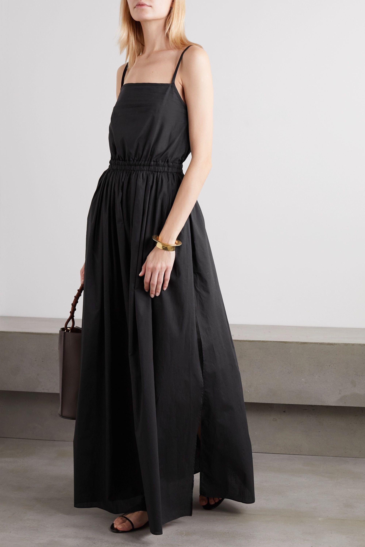 Matteau + NET SUSTAIN gathered cotton-poplin maxi dress