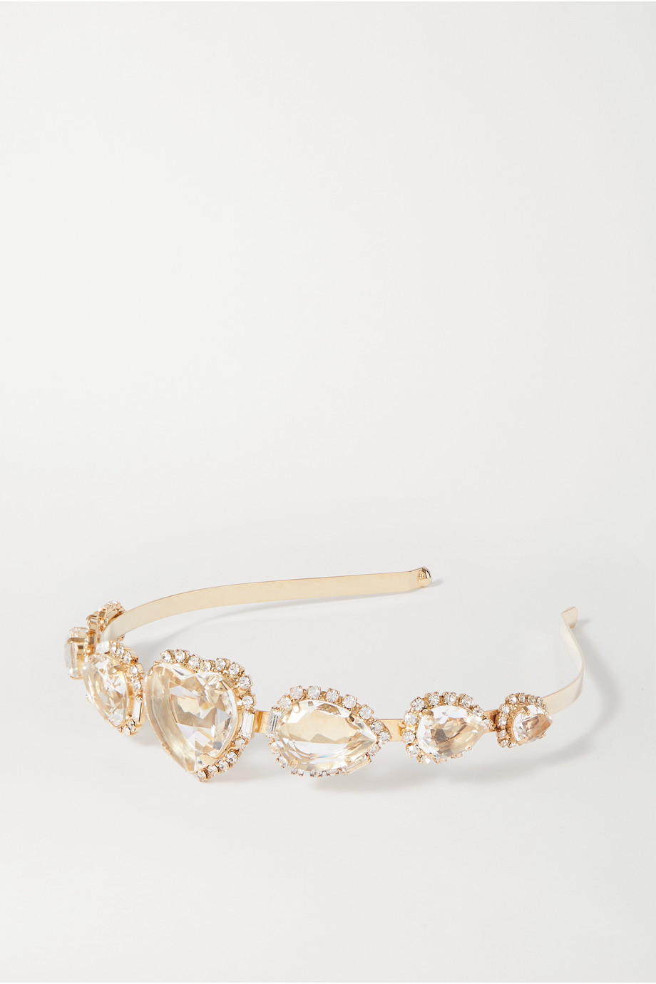 Rosantica Gold-tone and crystal headband