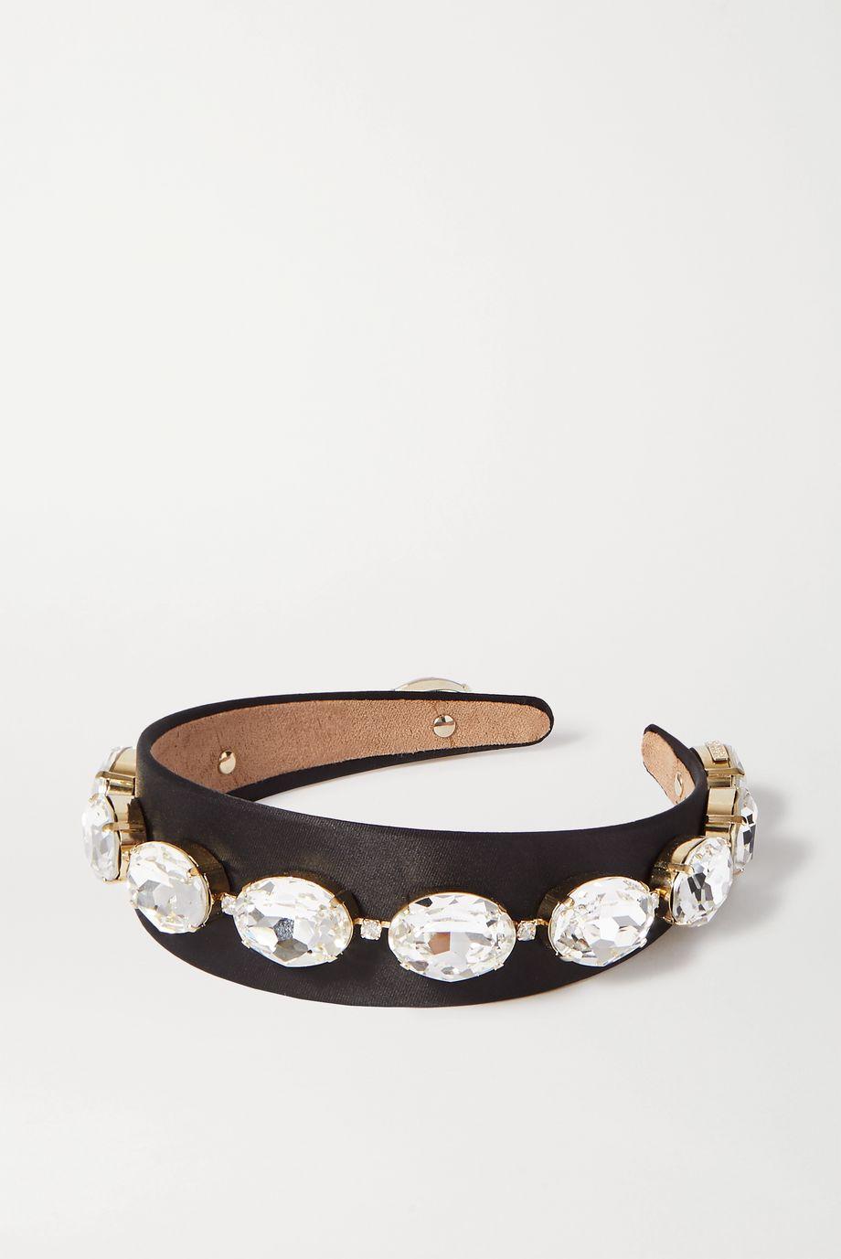 Rosantica Crystal-embellished satin headband